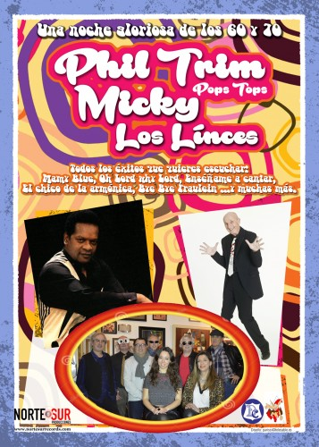 flyer promo Los Linces, phil trim y Micky web
