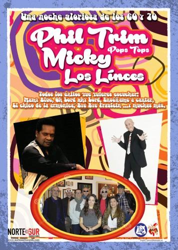 flyer promo Los Linces, phil trim y Micky web